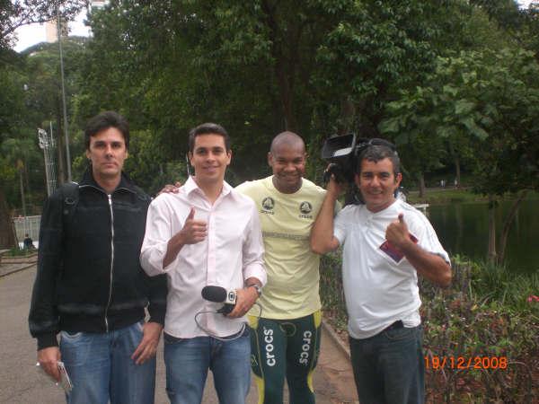 Carlos Dias e a equipe do Esporte Espetacular
